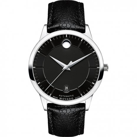 movado-black-leather-watch