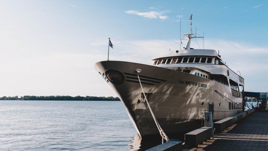 silver super yacht