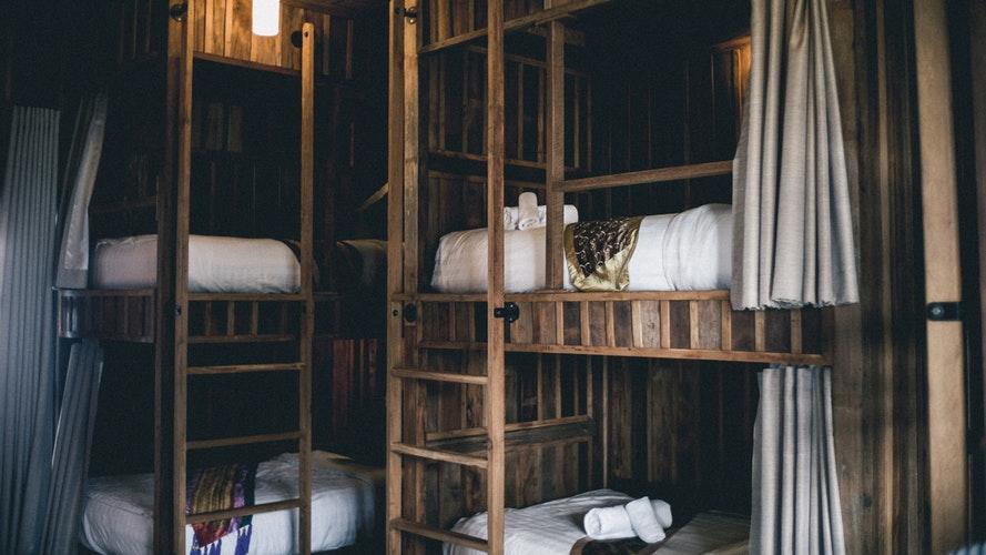 wooden hostel
